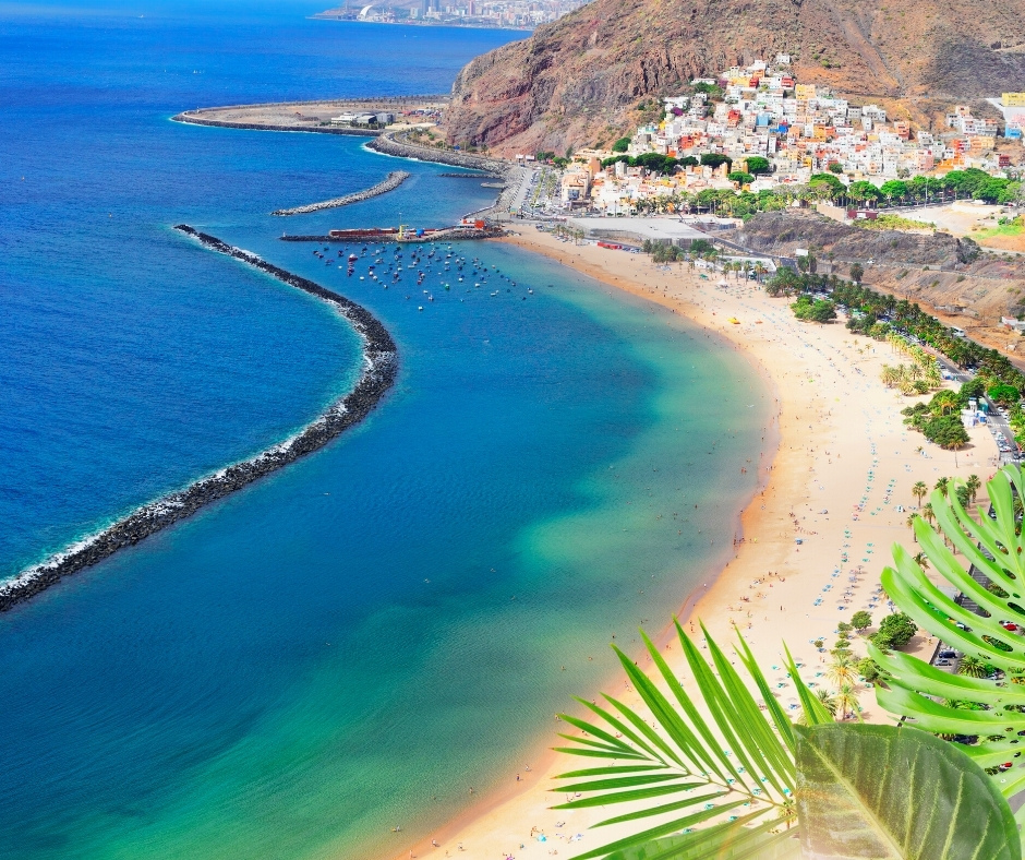 Playa de Las Teresitas in Tenerife, Canaries, Spain