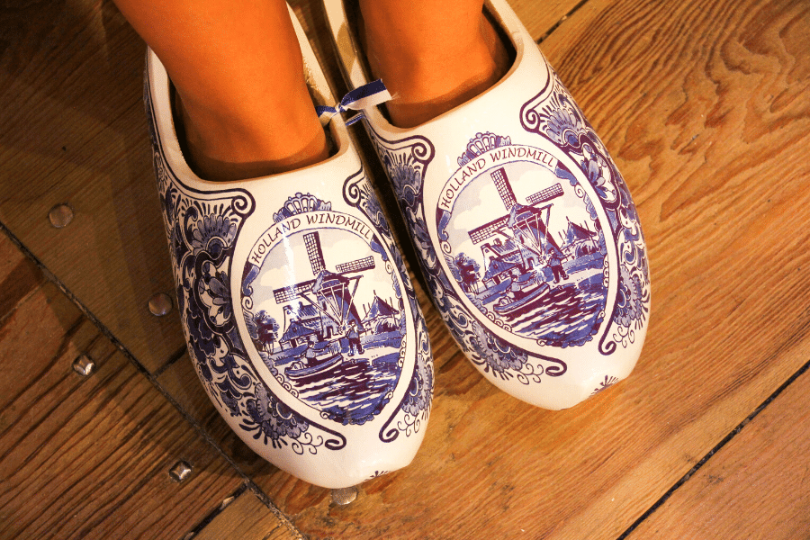 Dutch clogs at the Amsterdam museum