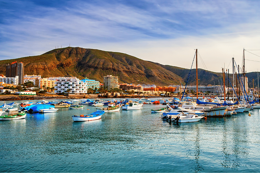 Los Cristianos in Tenerife Spain