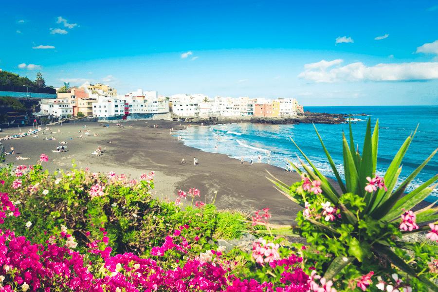 beach at puerto de la cruz