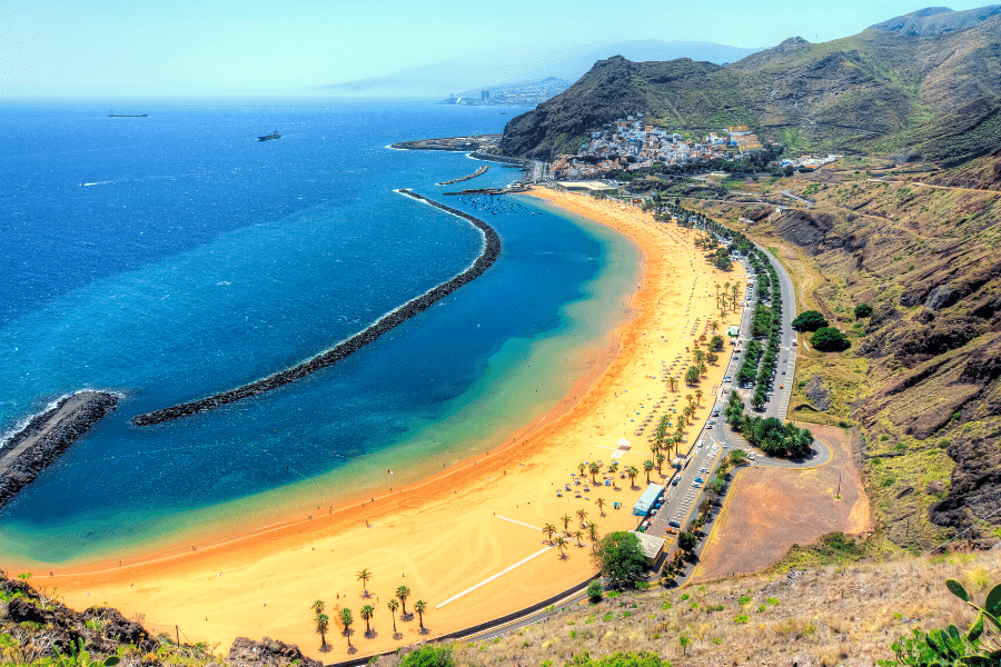 view of Teresitas Beach near Santa Cruz Tenerife